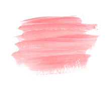 Pastel Pink Brush Paint Stroke Background. Perfect Design For Headline, Logo And Sale Banner.
