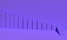 3d Progressive Or Growth Stairs Concept Illustration.