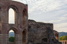 The Historic Roman Imperial Baths In Trier