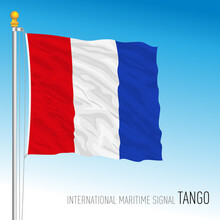 Tango Flag, International Maritime Signal, Letter T, Vector Illustration