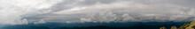 Panorama Of Mountain Peaks. Pa...