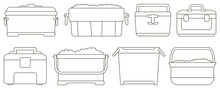 Box For Ice Vector Illustratio...
