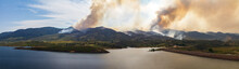 Panoramic View Of A Wildfire B...