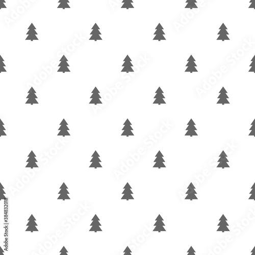 Christmas trees seamless pattern. Wallpaper Mural