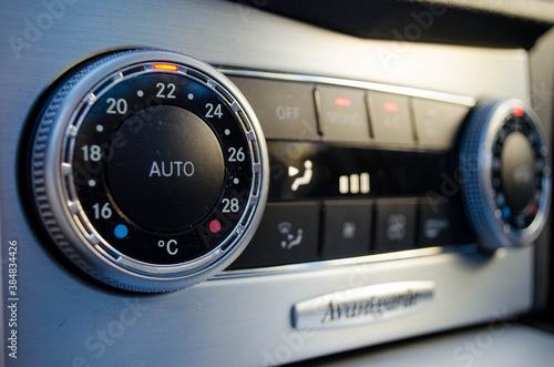 Aire acondicionado, calefacción de coche Canvas Print
