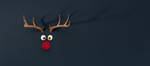Reindeer Toy With Cold Red Nos...
