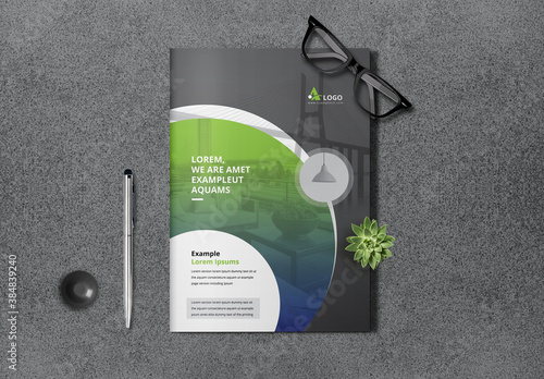Green and Black Creative Bifold Brochure