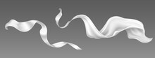 Flying White Silk Ribbon And S...
