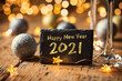 Happy New Year 2021 - Greeting Card - Silvester Party - Celebration
