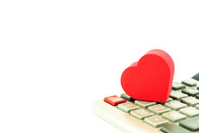 A Heart On Calculator The Conc...