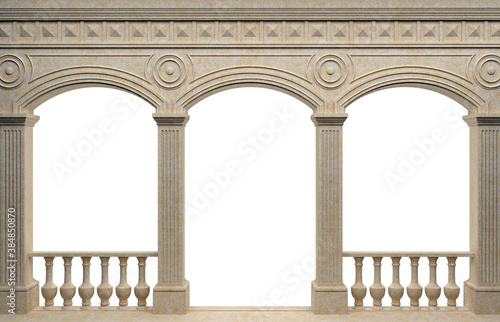 Fotografia Marble antique wall arcade of the ancient world