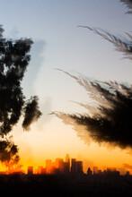 Los Angeles Skyline Sunset Dou...
