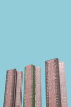 Three Pastel Skyscrapers