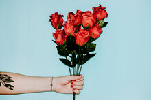 Fake Red Roses Bouquet