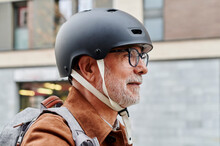Senior Man Wearing A Scooter H...