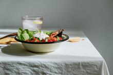 Salad With Italian Cheese Burr...