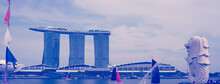 Singapore. Merlion Fountain In...