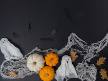Decorative Pumpkins And White ...