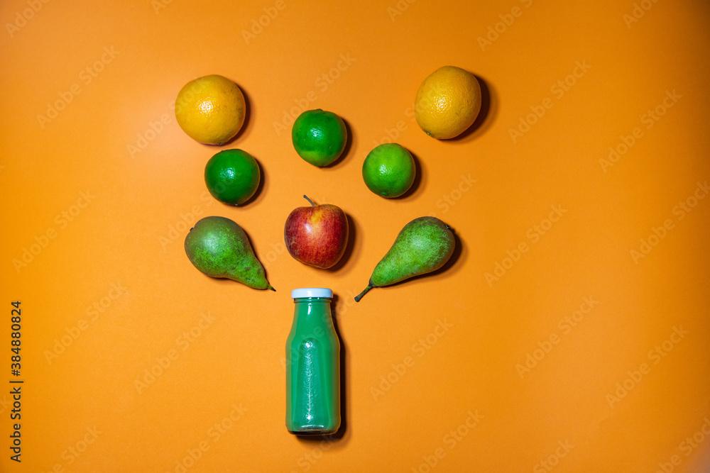Fototapeta Smoothie zielone - wytrysk witamin