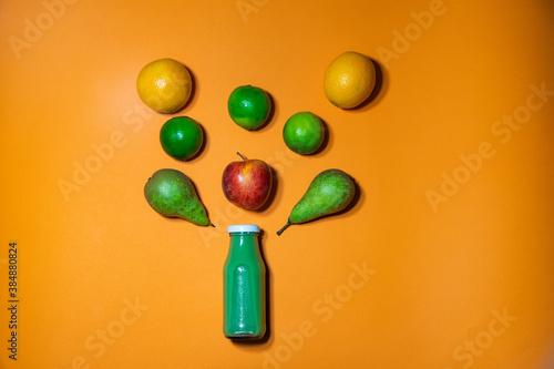 Fototapeta Smoothie zielone - wytrysk witamin obraz