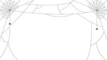 Vector, Cobwebs Seamless Background For Overlay, Halloween,  Frame.