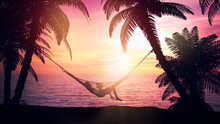 Relax In A Hammock On The Beac...