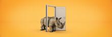 The Great Rhino Enters Through...