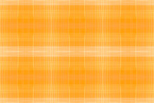 Orange Checks Print. Watercolor Plaid Border.