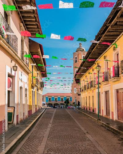 Turismo en pueblo mágico de Real del Monte, Hidalgo, México.