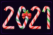 Candy Cane Numbers Of New Year...