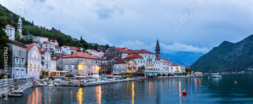 Perast, as an absolute highlight of the Bay of Kotor, is also one of the most beautiful Baroque towns in Montenegro Canvas Print