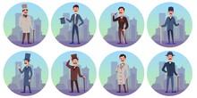 Set Characters Of Victorian En...