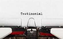 Text Testimonial Typed On Retr...