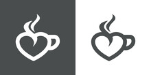 I Love Coffee. Logotipo Con Co...