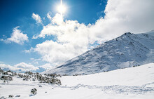 View Of Snow-covered Hills In ...