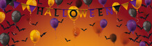 Halloween Balloons Bats Long H...
