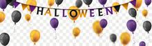 Halloween Balloons Long Transparent Header