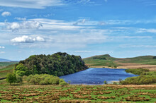 A View Of Crag Lough On Hadrian's Wall