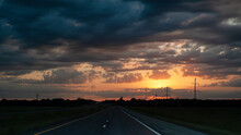 Sunrise Or Sunset On The Highway
