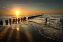 Baltic Sea Seascape At Sunset....