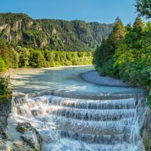Lech River Waterfall, Fussen, Allgau, Schwaben, Bavaria