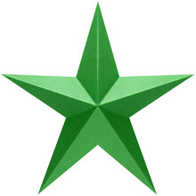 Green Star Shape