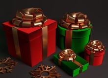 Red And Green Velvet Gift Boxe...