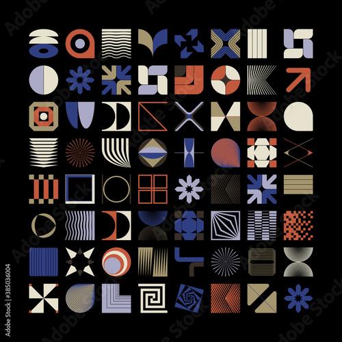 Fotografia Geometric Shapes and Abstract Modernism Logo Form Elements
