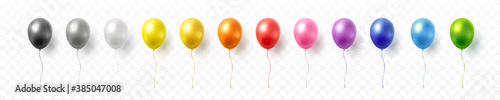 Foto Balloon set isolated on transparent background