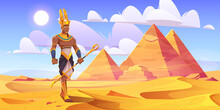Ancient Egyptian God Amun In D...