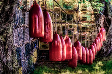 Lobster Pots On A Dock
