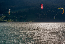 Various Kite Surfers In Action...