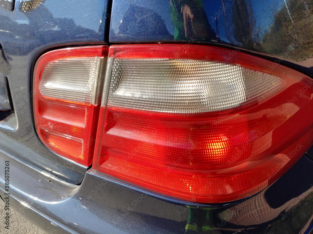 Fototapeta światło lampa samochód tylna czerwień auto