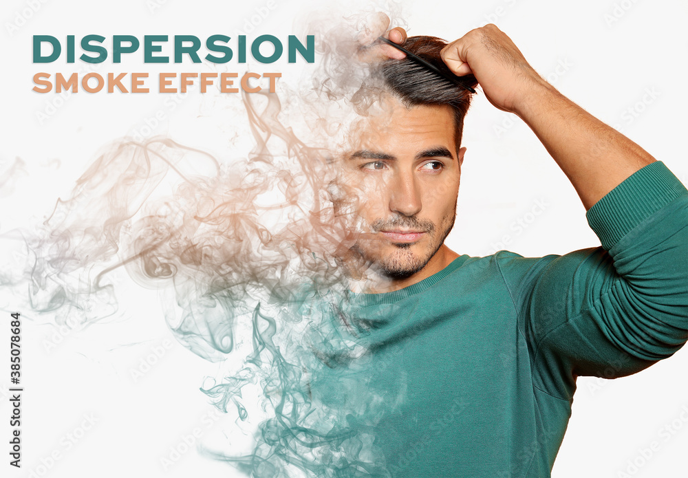 Fototapeta Smoke Dispersion Photo Effect Mockup
